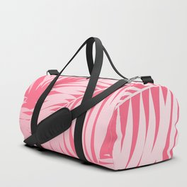 Palm Tree Fronds c'est parfait on pink Hawaii Tropical Décor Duffle Bag