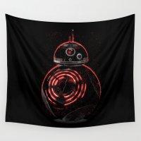 darth Wall Tapestries featuring BB8 Darth  by Daniac Design