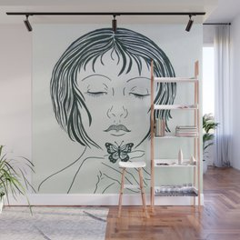 Butterfly kiss Wall Mural