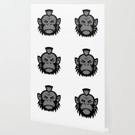 Chimpanzee Wearing Mohawk Mascot Wallpaper