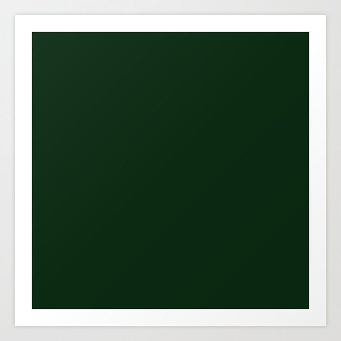 Simply Pine Green Art Print