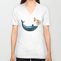 cloud V-neck T-shirts featuring Cloud Maker  by Terry Fan
