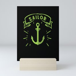 Beautiful sailing anchor sailor sail sea Mini Art Print