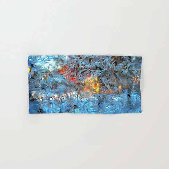 Frozen window Hand & Bath Towel