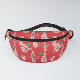 Mid Mod Cactus Red Fanny Pack
