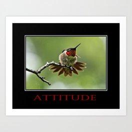 Inspirational Attitude Art Print