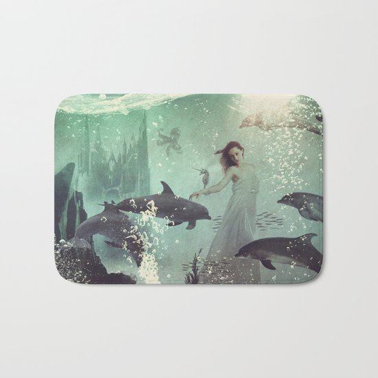 The Sea Unicorn Lady Bath Mat