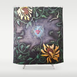 Love Demise Shower Curtain