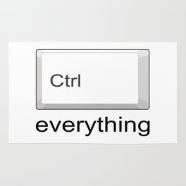 Control Ctrl everything Rug