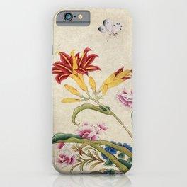 Minhwa-Korea traditional flower art : Lilium lancifolium and Butterfly iPhone Case