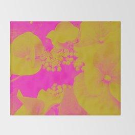 Neon Flowers Throw Blanket