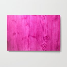 Pink Wood Grain Metal Print