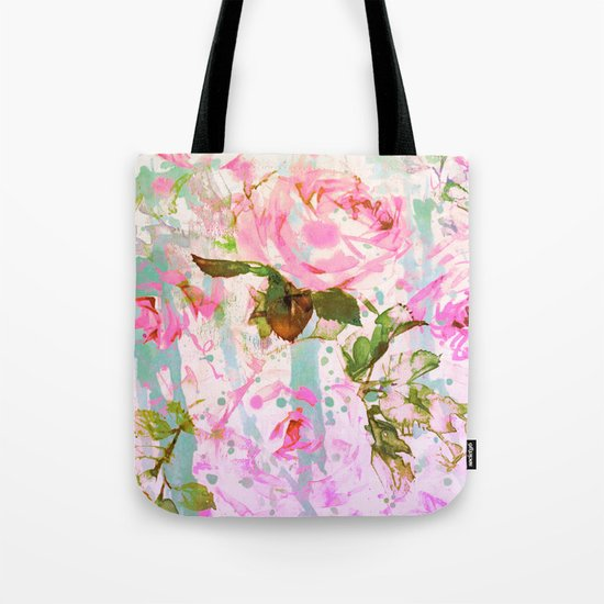 abstract pink rose Tote Bag