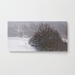 Snow is falling Metal Print