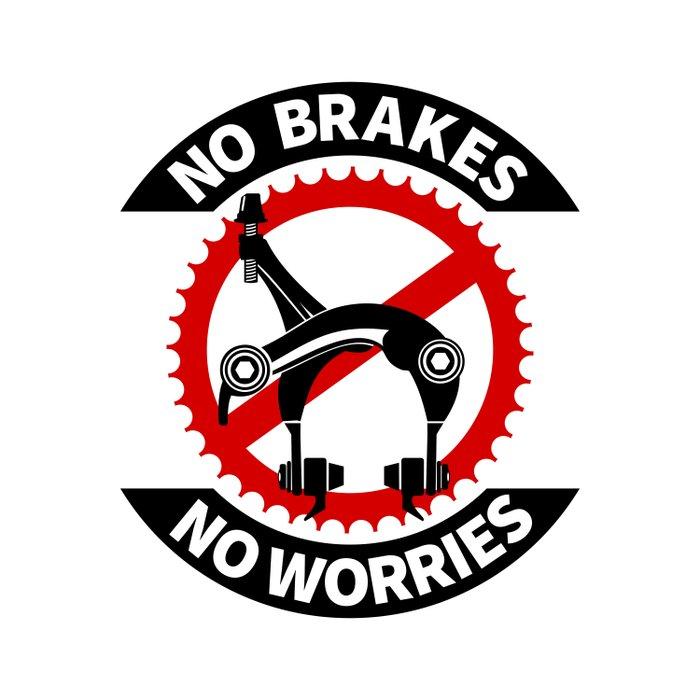 No Brakes No Worries Duvet Cover