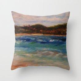 Winter Seaside Fantasy by Marianne Fadden Throw Pillow