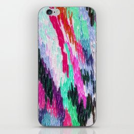 embroidered space iPhone Skin