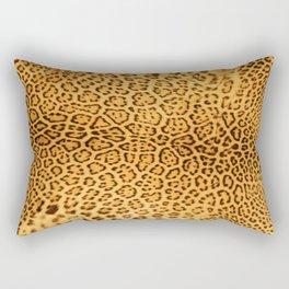 Brown Beige Leopard Animal Print Rectangular Pillow