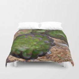 succulent depth Duvet Cover