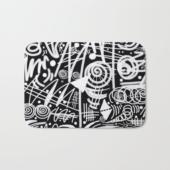 Chalk Board! Bath Mat