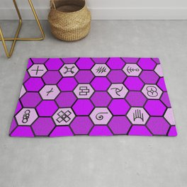 Mysterious Hexagons Rug