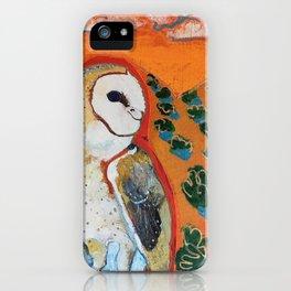 Barn Owl and Orange iPhone Case