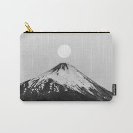 minimalist moonrise landscape photography   chilean volcano & full moon Carry-All Pouch