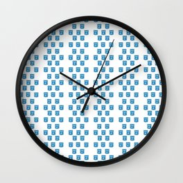 emblem of Israel 2-יִשְׂרָאֵל ,israeli,Herzl,Jerusalem,Hebrew,Judaism,jew,David,Salomon. Wall Clock