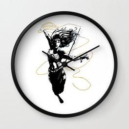 Flying Lasso Wall Clock