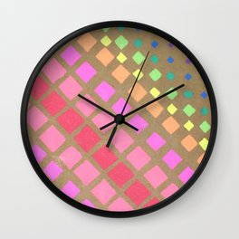 Multi Colored Squares Wall Clock