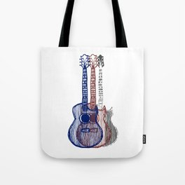 Patriotic Guitars Tote Bag