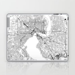 Jacksonville White Map Laptop & iPad Skin