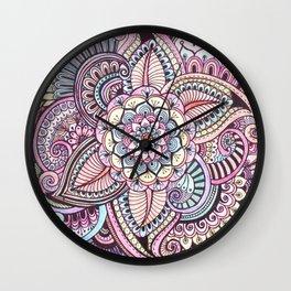 Henna Style Pattern Wall Clock