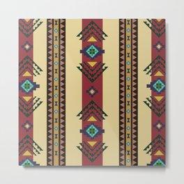 American Native Pattern No. 92 Metal Print