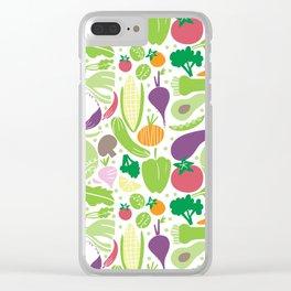 Delicious veggies Clear iPhone Case