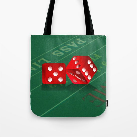 Craps Table & Red Las Vegas Dice by gx9designs