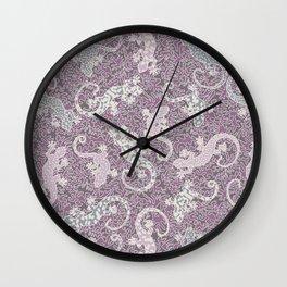 Dancing Lizards Wall Clock