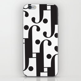"Musical - The Didot ""j"" Project iPhone Skin"