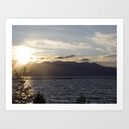 Sunset in Lake Tahoe Art Print