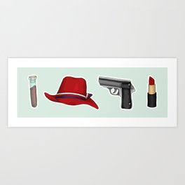 Peggy Carter Items Art Print