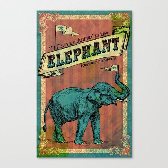 My Favorite Elephant Canvas Print