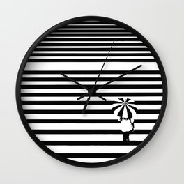 Rainy lines Wall Clock