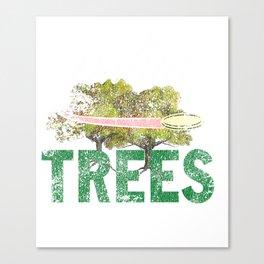 Splittin' Trees Funny Distressed Disc Golf Canvas Print