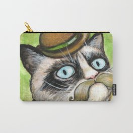 Dapper Grumpy Cat - Cats with Moustaches Carry-All Pouch
