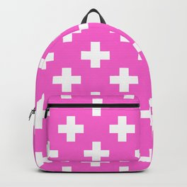 Pink Plus Sign Pattern Backpack