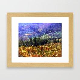Harvest Time at the Vineyard Framed Art Print