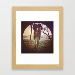 INSIDE A CIRCLE OF EMOTIONS. Framed Art Print