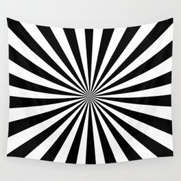 Starburst (Black & White Pattern) Wall Tapestry