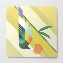 Apricot Eater Metal Print