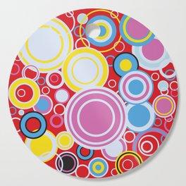 Pop Art Colour Circles Cutting Board
